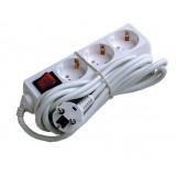 Produžni kabel 0816 3/5m +sklopka,bijeli