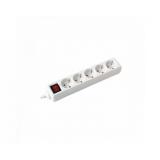 Produžni kabel 232-504 5/3m + sklopka,bijeli