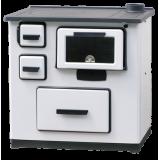 PLAMEN štednjak kuhinjski 5 - 8 kW SLAVONAC bijeli desni
