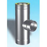 "Aluminato izolirani dimovodni element ""T"" komad Ø 160/250/90° jednostjeno reducirani na Ø 160"