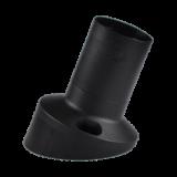 Grlo zidno E27 13016 koso crno