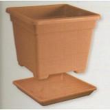 Vaza Kvadratna 45x45 (3490) sa podmetačem 42x42 (3491)
