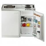 Mini Kuhinja Respekta 100 cm, S pločama za kuhanje Duo + hladnjakom